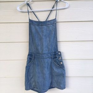 Free People overall denim dress size 0